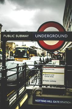London, Notting Hill tube station