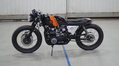 Honda CB550 Cafe Racer by Halifax speed co - Tags: black, orange
