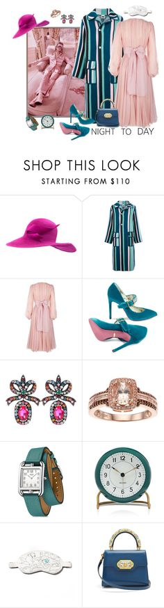 """Ssssshhhhh, I'm working"" by juliabachmann ❤ liked on Polyvore featuring Philip Treacy, M Missoni, Dolce&Gabbana, Gucci, Hermès, Carl Mertens and Morgan Lane"