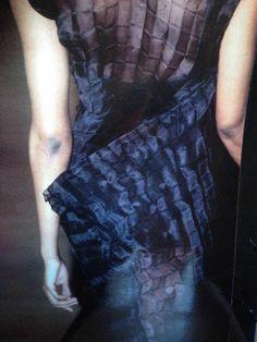 JAN MACHENHAUER 1994 #skandinavian #fashion #womenswear #copenhagen #90s #pleat #craft #tailoring #pleated #dress