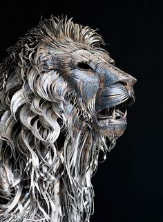 Funny pictures about Metal Lion Sculpture By Selcukk. Oh, and cool pics about Metal Lion Sculpture By Selcukk. Also, Metal Lion Sculpture By Selcukk photos. Sculpture Metal, Lion Sculpture, Abstract Sculpture, Scrap Metal Art, Metal Yard Art, Wow Art, Animal Sculptures, Clay Sculptures, Art Plastique