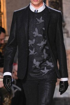 """a-trophy-dad-named-d:  """" monsieurcouture:  """" Les Hommes F/W 2014 Menswear Milan Fashion Week  """"  i can get into this  """""""