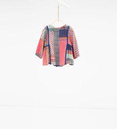 Image 1 of Patchwork blouse from Zara Zara Kids, Fashion Kids, Online Zara, Girls Blouse, Shirt Blouses, Shirts, Online Collections, Kind Mode, Kids Wear