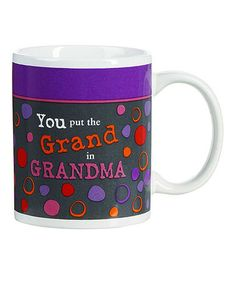 Look at this #zulilyfind! Purple 'Grand in Grandma' Mug by GANZ #zulilyfinds