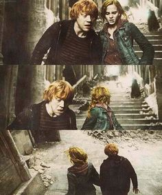 ron and hermione Harry Potter Ron And Hermione, Harry Potter Films, Harry Potter World, Hermione Granger, Harry Harry, Draco, Mischief Managed, Fantastic Beasts, Hogwarts