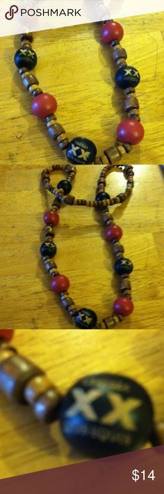 Wooden beads Cervisa Dos Equis necklace Beautiful beads wooden wood beads Jewelry Necklaces