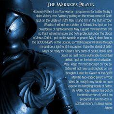 The warrior prayer pic.twitter.com/HTL6xdQVl3
