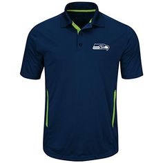 Majestic Mens Seattle Seahawks Field Polo 4XL *** Check this awesome product by going to the link at the image.