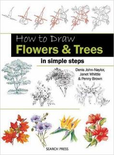 Amazon.co.jp: How to Draw Flowers & Trees in Simple Steps: Janet Whittle, Penny Brown, Denis John-Naylor: 洋書