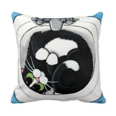 Tuxedo Cat in Sink Throw Pillow http://www.zazzle.com/tuxedo_cat_in_sink_throw_pillow-189959543925563322?rf=238282136580680600