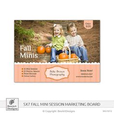 INSTANT DOWNLOAD Fall Mini Sessions Marketing by BeeArtDesigns