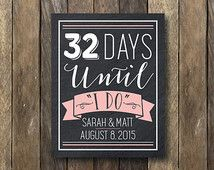 days until shes a mrs. wedding signs - Google Search