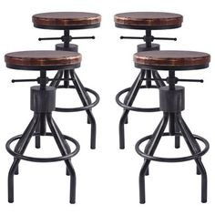 17 Stories Verdell Backless Adjustable Height Bar Stool - set of 4
