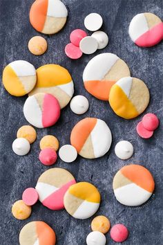 So easy and so eye-catching: color-blocked sugar cookies.