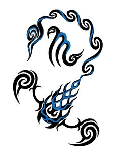 Tatouage Tribal Scorpion En Couleur Idée Tattoo TM2er6yr