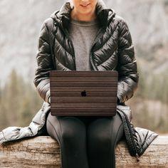 Macbook Air 13 Cover, Walnut Wood, Wood Wood, Mac Stickers, Macbook Decal, Wood Patterns, Picture On Wood, Wood Veneer, Real Wood