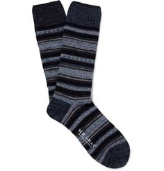 Mr. Gray striped knitted socks