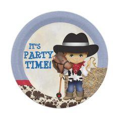 Cowboy Paper Plates  sc 1 st  Pinterest & Leather Western Wild West Cowboy Birthday Party Paper Plate | Pinterest