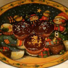 Banana cupcakes with ganache of nutella