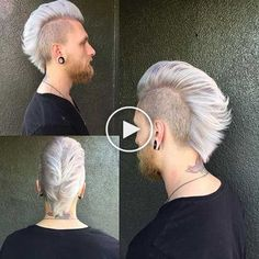 Mohawk cut for men and boys: Mohawk, Faux Hawk, Fohawk and Co. Mohawk Hairstyles Men, Mens Medium Length Hairstyles, Latest Hairstyles, Mohawk Cut, Boys Mohawk, Boys Haircut Styles, Hair Images, Fade Haircut, Hair Art