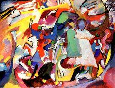 Picture With An Archer Wassily Kandinsky | Olio su tela 50x64.5 cm. Städtische Galerie in Lenbach, Monaco