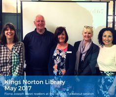 Meeting readers at Kings Norton Library Talkabout coffee morning...