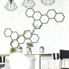 Wooden Wall Art, Metal Wall Decor, Wall Art Decor, Outside Wall Decor, Blue Couch Living Room, Tape Wall, Book Wall, Honeycomb Pattern, Mirror Wall Stickers