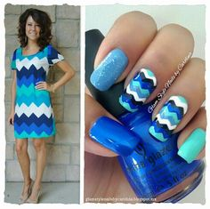 "CHEVRON IN BLUE **FOR DETAILS FOLLOW MY BLOG OR DO ""LIKE"" TO MY FACEBOOK, would be great!! All comments are welcome!!!**"