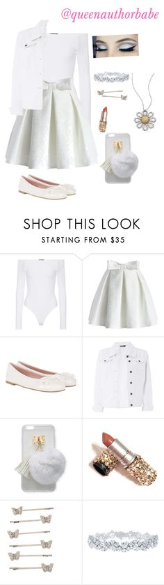 """All White"" by harrystyleslove02 ❤ liked on Polyvore featuring ATM by Anthony Thomas Melillo, Chicwish, Pretty Ballerinas, Dorothy Perkins, Ashlyn'd, Harry Winston and Roberto Coin"