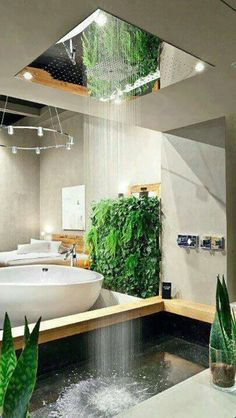 leben u wohnen grün badezimmer ideen bilder deko ideen regendusche How To Choose A Set Of Sheets For Dream Bathrooms, Dream Rooms, Beautiful Bathrooms, Luxury Bathrooms, Outdoor Bathrooms, Master Bathrooms, Dream Home Design, My Dream Home, House Design