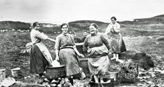 Washing Day on Scalpay in about 1900.