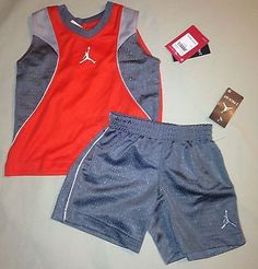 BOYS 2 2T JORDAN JERSEY SHIRT SHORTS SET OUTFIT NWT