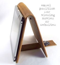 notebook with closure that turns into easel