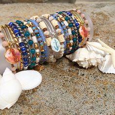 ALEX AND ANI Summer 2016 Collection | Deep Sea | Art Infusion Seahorse Charm bangle | Anchor Art Infusion Charm bangle
