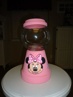 Minnie Mouse Candy Jar omg so easy! But with bow instead of minnie face