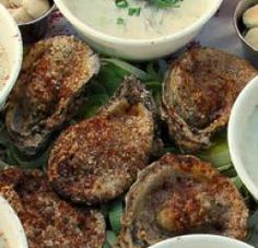 i have a new found love for charbroiled oysters :)