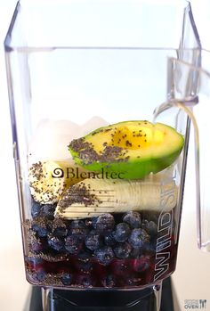 Brain Power Smoothie (Blueberry Avocado Smoothie) | Gimme Some Oven