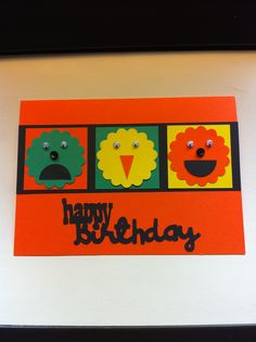 BD Card done with punches and Cricut cart.