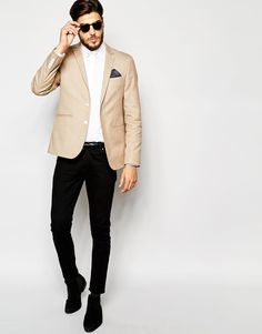 Image 4 of ASOS Skinny Blazer In Cotton