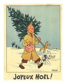 Joyeux Noël from Tintin and Snowy
