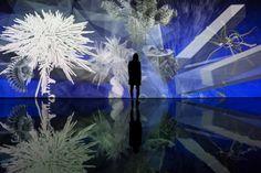 Flores fractais e paraisos artificiais - High-Tech Girl    Artificial Paradises, de Miguel Chevalier