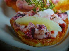 ricette bruschette - con polpo calamari e totani