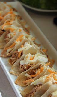 Mini tacos using wonton wrappers