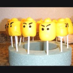 Ninjago Lego marshmallow pops for my Connor! Birthday Ideas, Birthday Parties, Ninjago Party, Marshmallow Pops, Little Man, Special Events, Kid Stuff, Lego, Party Ideas