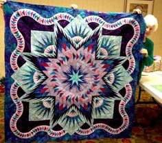 Glacier Star, Quiltworx.com, Made by Beverly Usher, Taught by CI Ginny Radloff.
