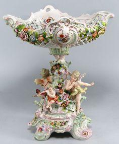 Citzendorf Porcelain Figural Compote