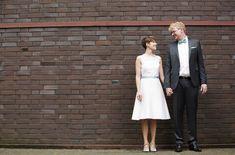 Brautkleid kurz und schlicht