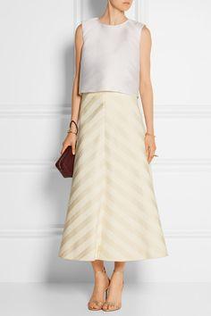 DELPOZO | Cotton-blend jacquard midi skirt | NET-A-PORTER.COM