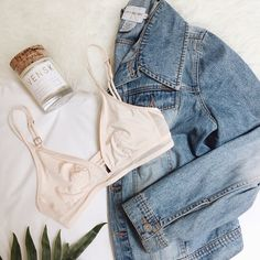 Bralette and denim #trueandco
