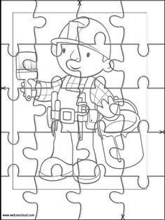 Printable jigsaw puzzles to cut out for kids Bob the Builder 9 Coloring Pages